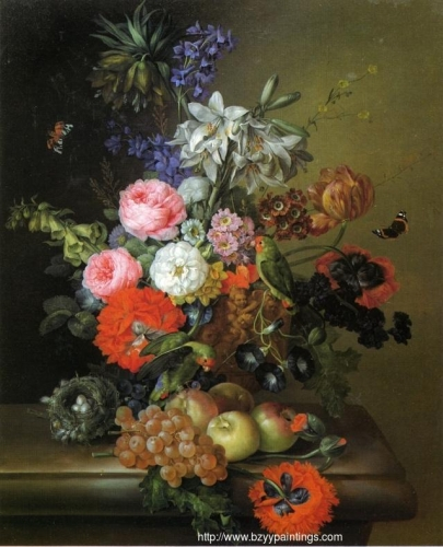 Still Life with Flowers Parakeets and Butterflies.jpg