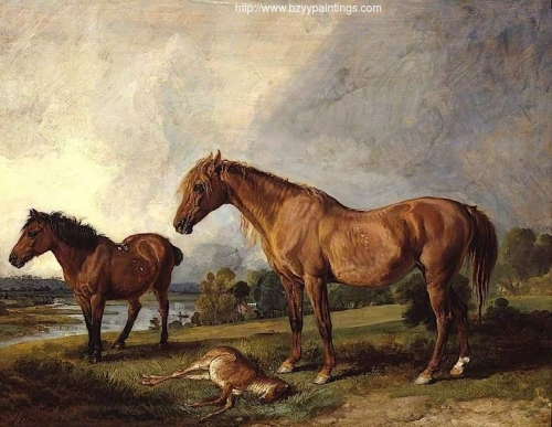 Portraits of Blackthorn a Broodmare with Old Jack a Favourite Pony the Property of E Mundy Esq.jpg