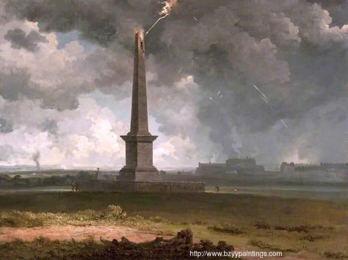 The Nelson Monument on Glasgow Green Struck by Lightning.jpg