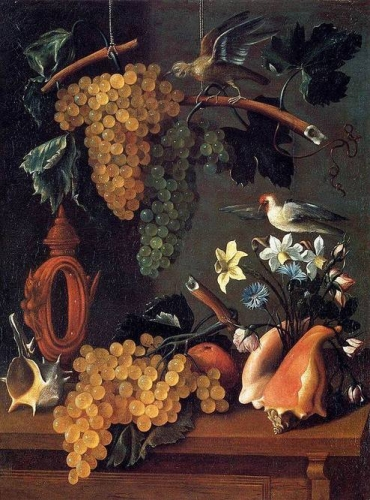Still-Life with Grapes Flowers and Shells.jpg