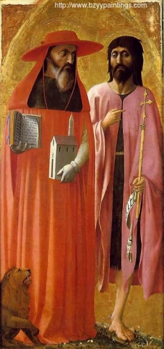 Saint Jerome and John the Baptist from the Santa Maria Maggiore Altarpiece).jpg