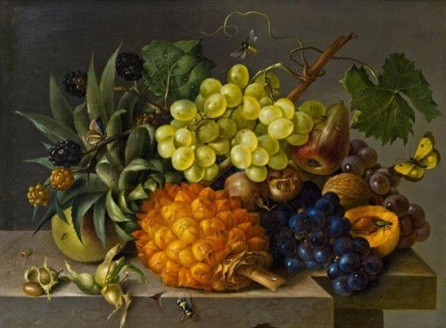 Still Life with Grapes and Pineapple.jpg