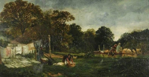 A Glade in Cadzow Forest: Clothes Drying.jpg