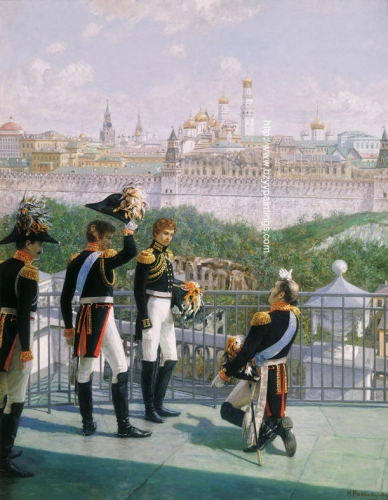 King Friedrich Wilhelm III of Prussia and His Sons Thanking Moscow for Saving Their Country.jpg