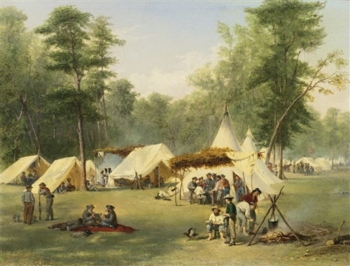Camp of the Third Kentucky Confederate Infantry at Corinth Mississippi.jpg