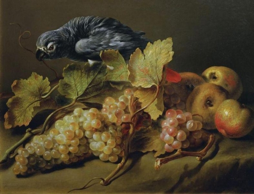 Still Life with a Parrot and Grapes.jpg
