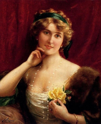 An Elegant Lady With A Yellow Rose.jpg