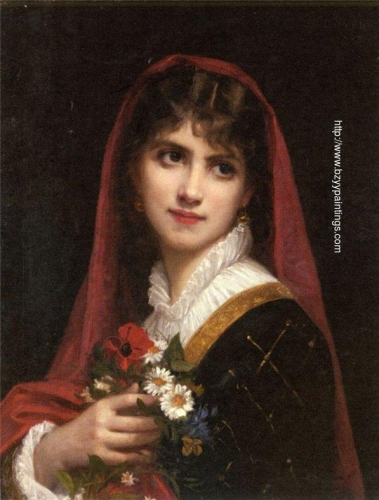 A Young Beauty Wearing A Red Veil.jpg