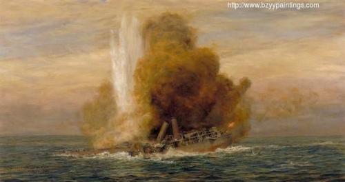 Loss of HMS Pathfinder 5 September 1914.jpg