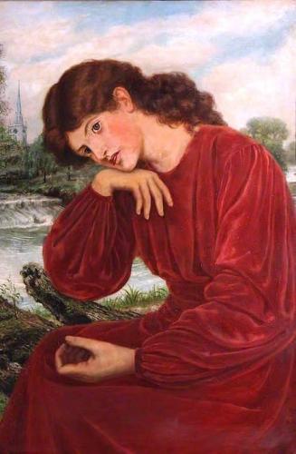 The Theodore Watts-Dunton Folding Press Bed: Janey Morris after Dante Gabriel Rossetti).jpg