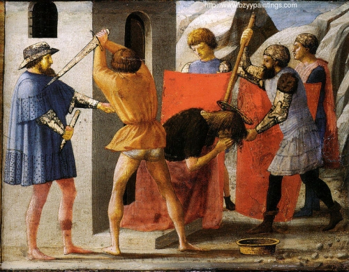 The Martyrdom of Saint John the Baptist predella from the Pisa Altarpiece).jpg