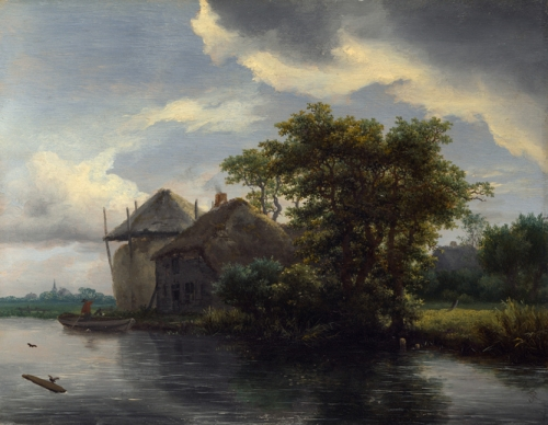 A Cottage and a Hayrick by a River.jpg