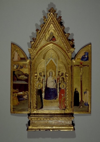 Triptych: Madonna with Christ and Saints; the Nativity and the Crucifixion.jpg