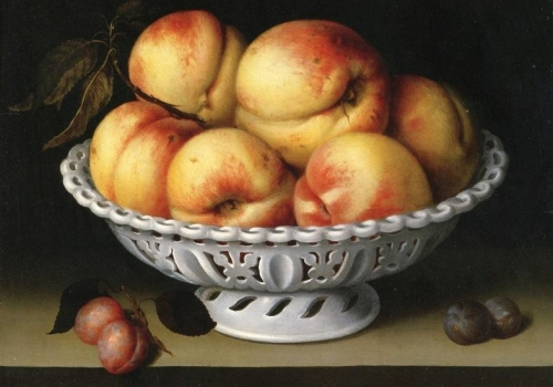 Still Life with Peaches in a White Porcelain Basket.jpg