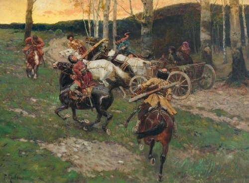 Circassian Horsemen Attack a Peasant Couple.jpg