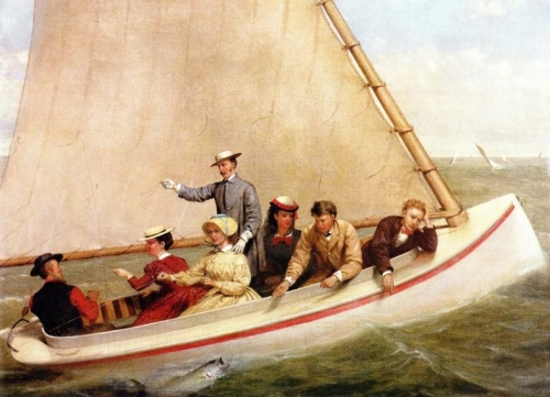 Fishing in a Catboat in Great South Bay.jpg