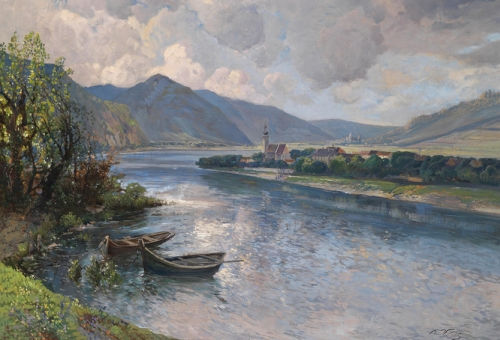 Landscape in the Wachau with View of Mautern.jpg